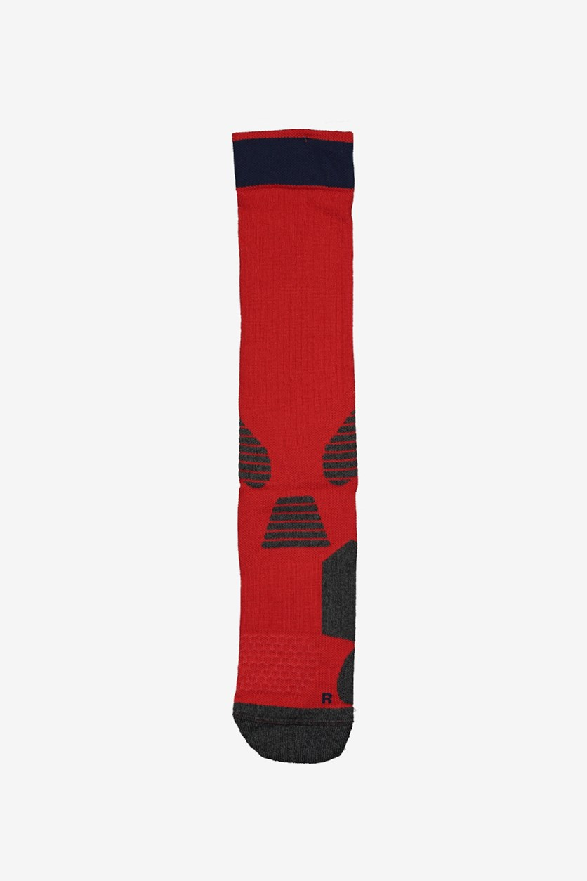 Men's Indoor Sports Socks, Red Combo