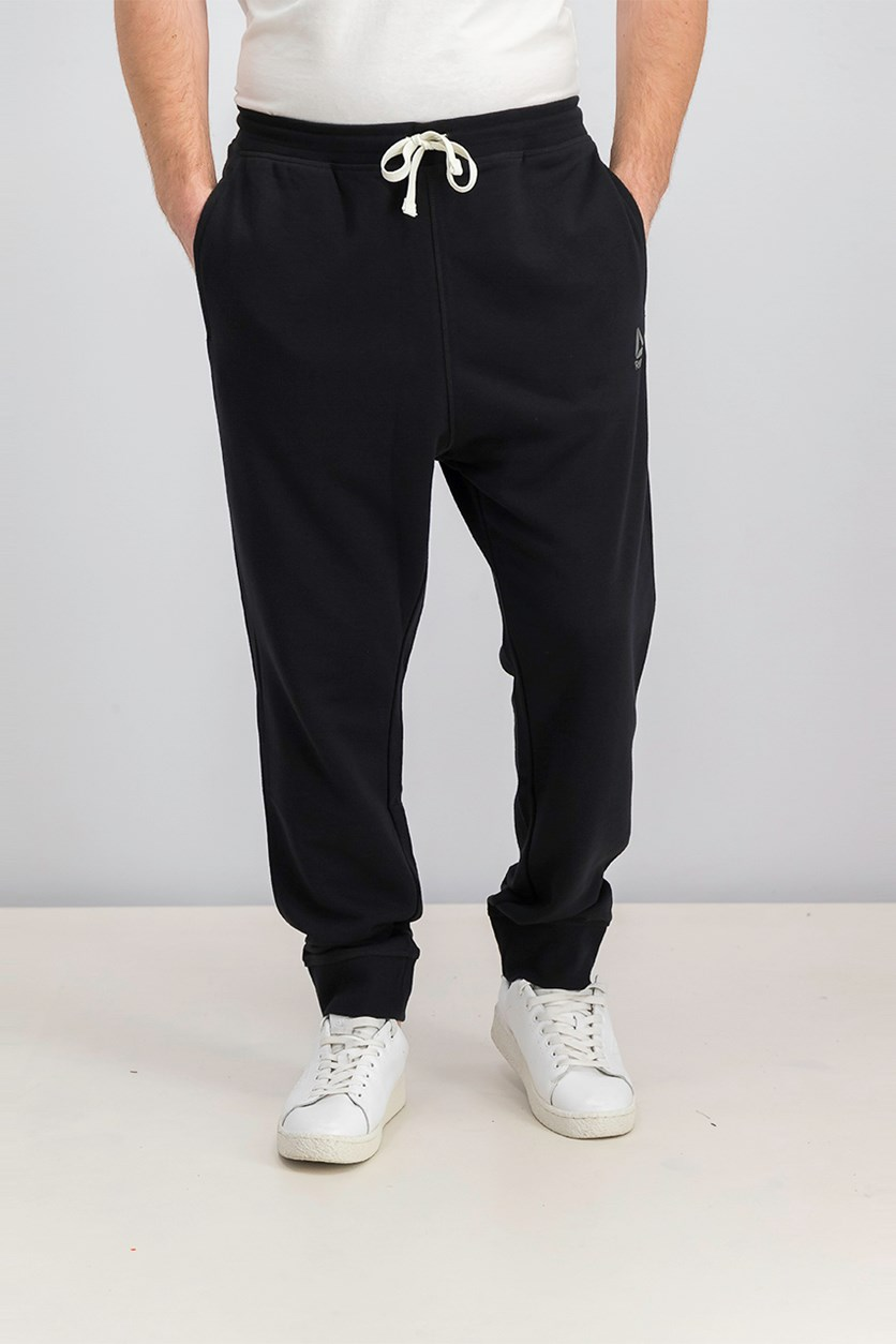 Men's French Terry Cuffed Pant, Black