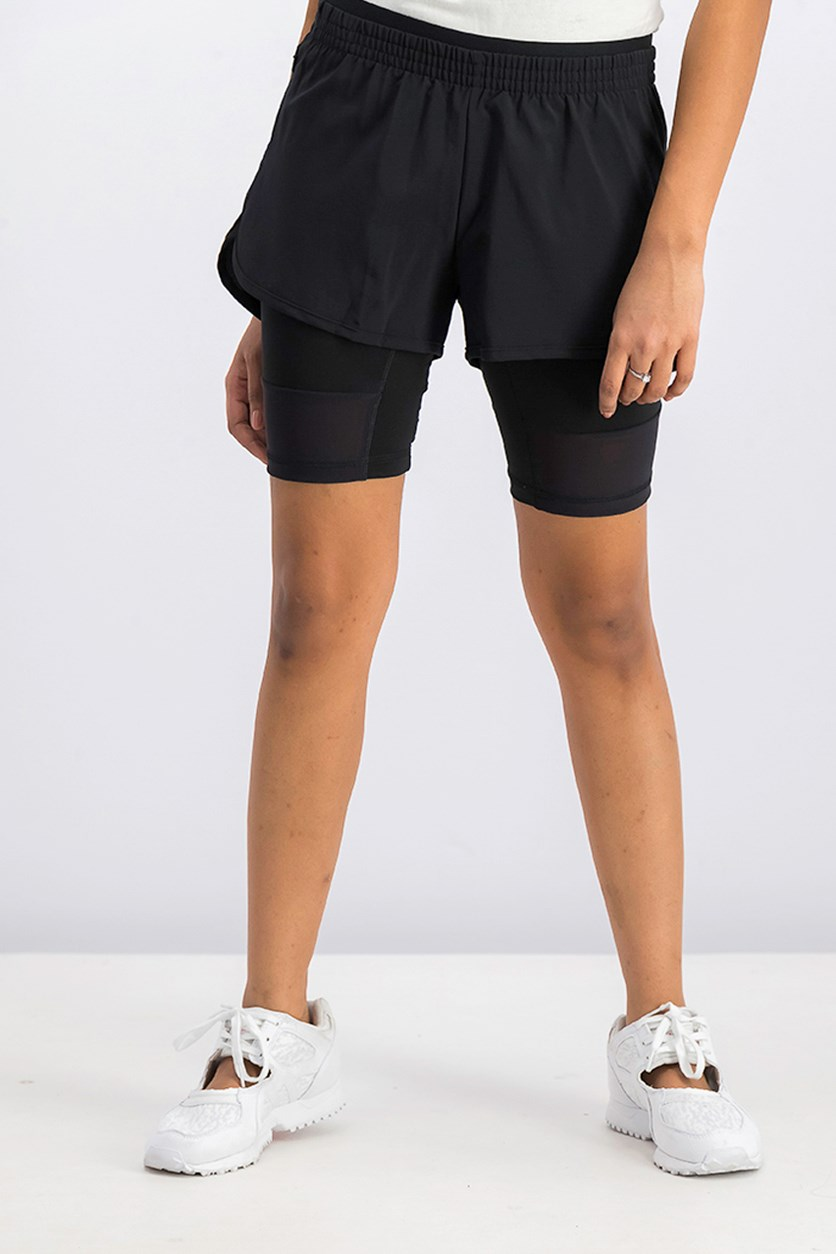 Adidas Two-in-One Long Shorts, Black