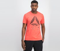 Reebok Men's Speedwick Graphic Tee,  Red