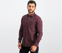 Tom Tailor Men Ray Structure Shirt, Red Combo