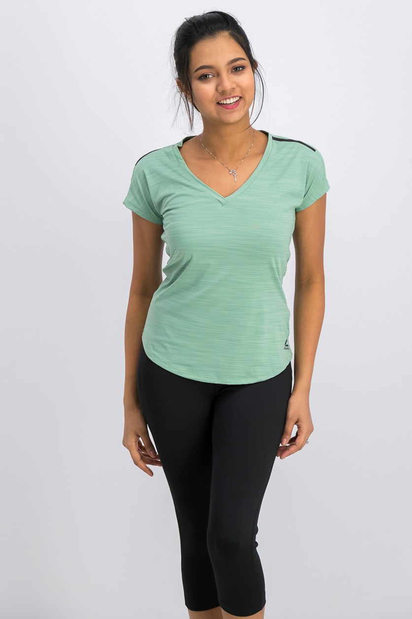 Women's Active Chill Tee, Pale Green