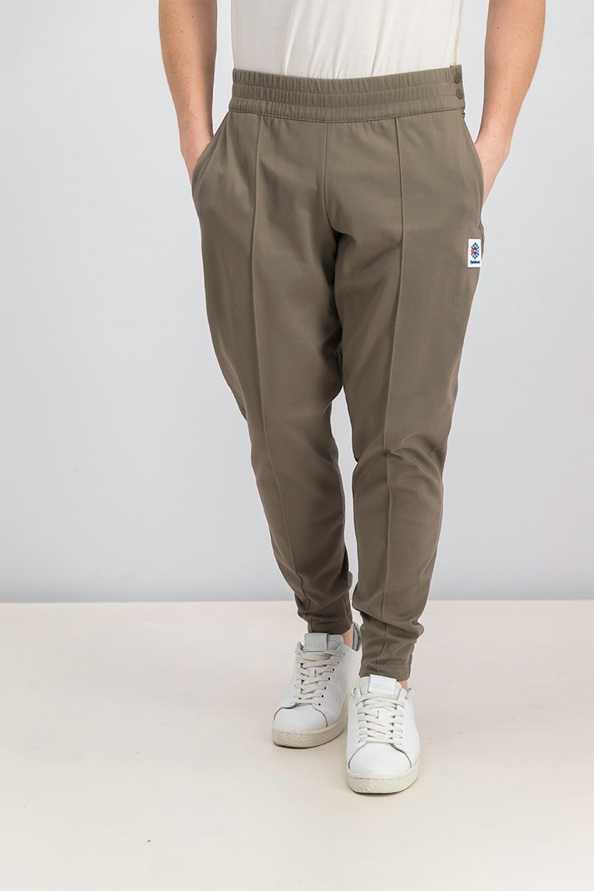Men Essential Carrot Pants, Taupe