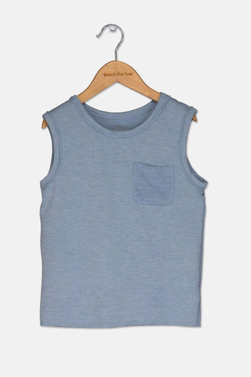 Toddler Boys' Sleeveless Muscle Tank Top, Blue Heather