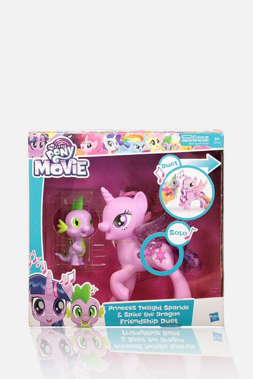 My Little Pony Princess Twilight Sparkle Spike The Dragon Friendship Duet, Purple