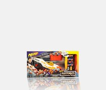 Nerf Doubleclutch Inferno Nitro Toy Includes Blaster, White/Orange Combo