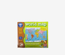 Orchard Toys World Map Jigsaw Puzzle and Poster, Green/Brown