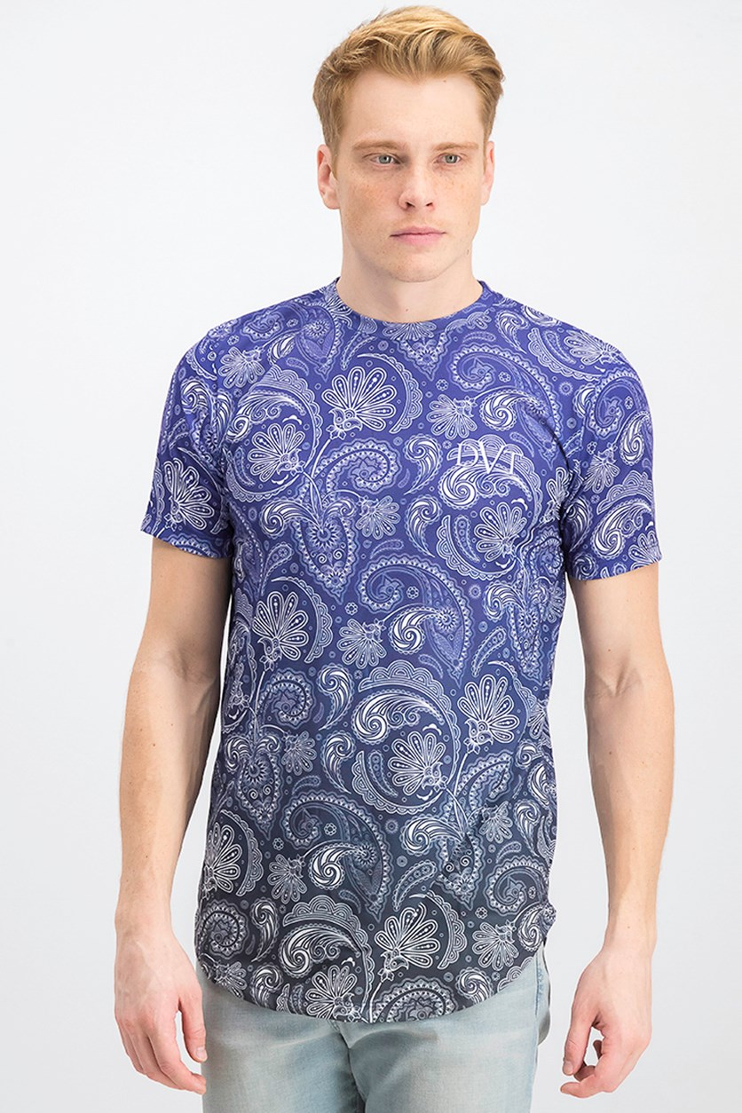 Men's Fenton Tee, Blue/Black