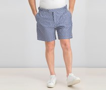 Hackett Men's Allover Print Casual Short, Navy/White