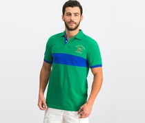 Hackett Men's Short Sleeve Polo, Green/Blue