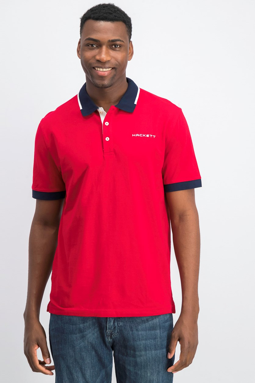 Men Short Sleeve Polo Shirt, Jester/Atlantic