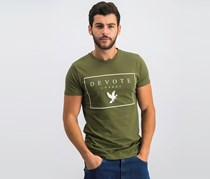 Devote Men's Graphic Print Tee, Olive