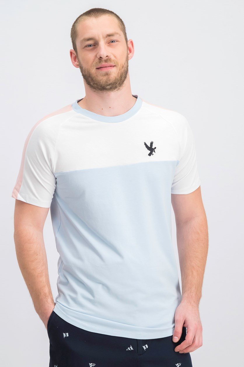 Men's Santiago Tee, Blue/Pink/White