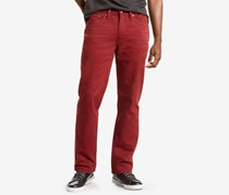 Levis Mens 514 Straight-Leg Corduroy Jeans, Pomegranite