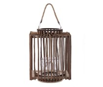 Urban Trends Brown Candle Wooden Decorative Lantern, Brown
