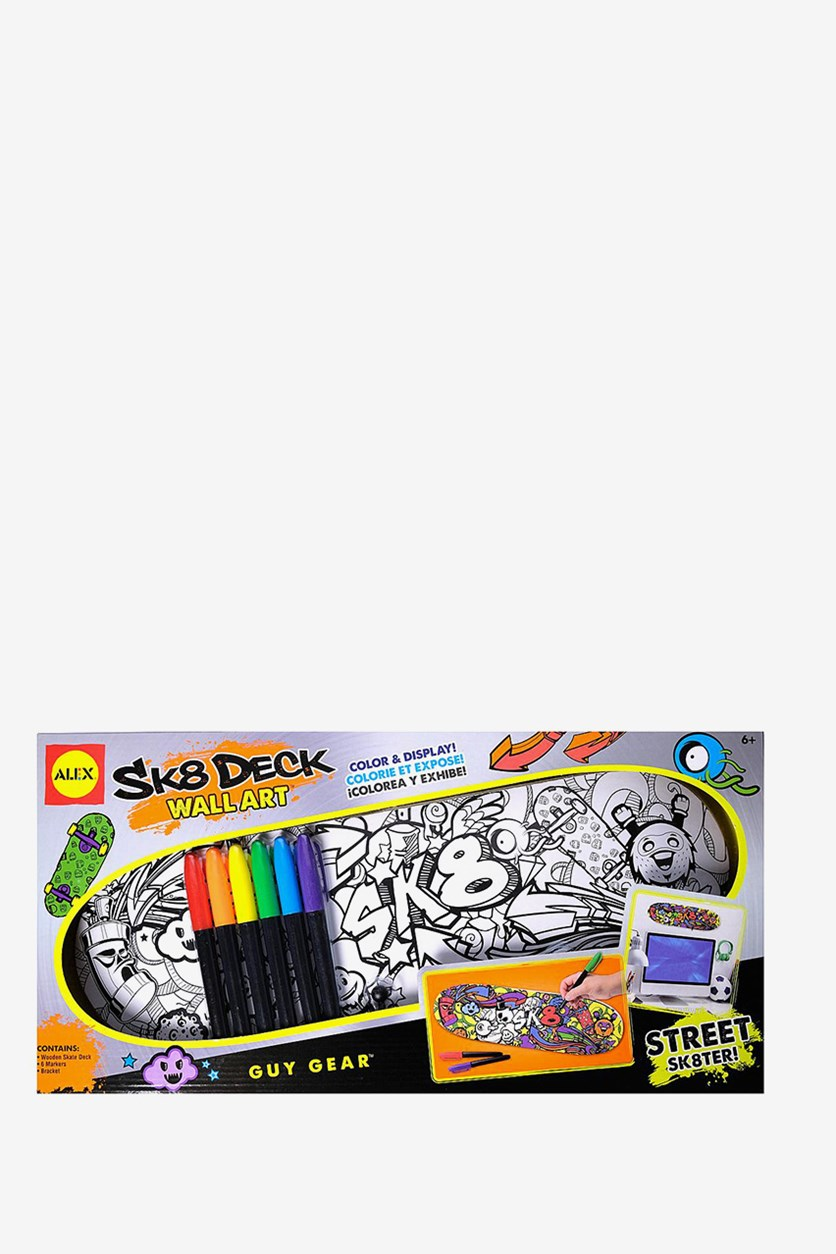 Toys Craft Sk8 Deck Wall Art Street Sk8ter, White Combo