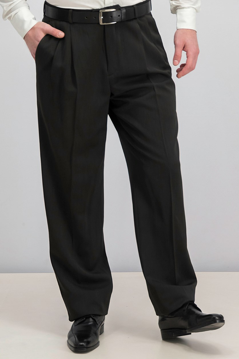 Portfolio Men's Classic Fit Dress Pants, Black