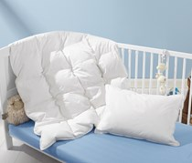 Children's Down Pillow And Quilted  Duvet, White