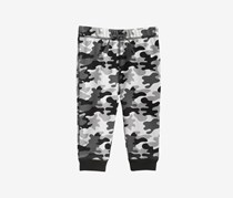 Camo-Print Jogger Pants, Angel White Camo