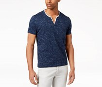INC Men's Short Sleeve V Neck, Navy