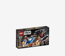 LEGO Star Wars: The Last Jedi A-Wing vs. Tie Silencer Microfighters Building Kit, Blue/Black
