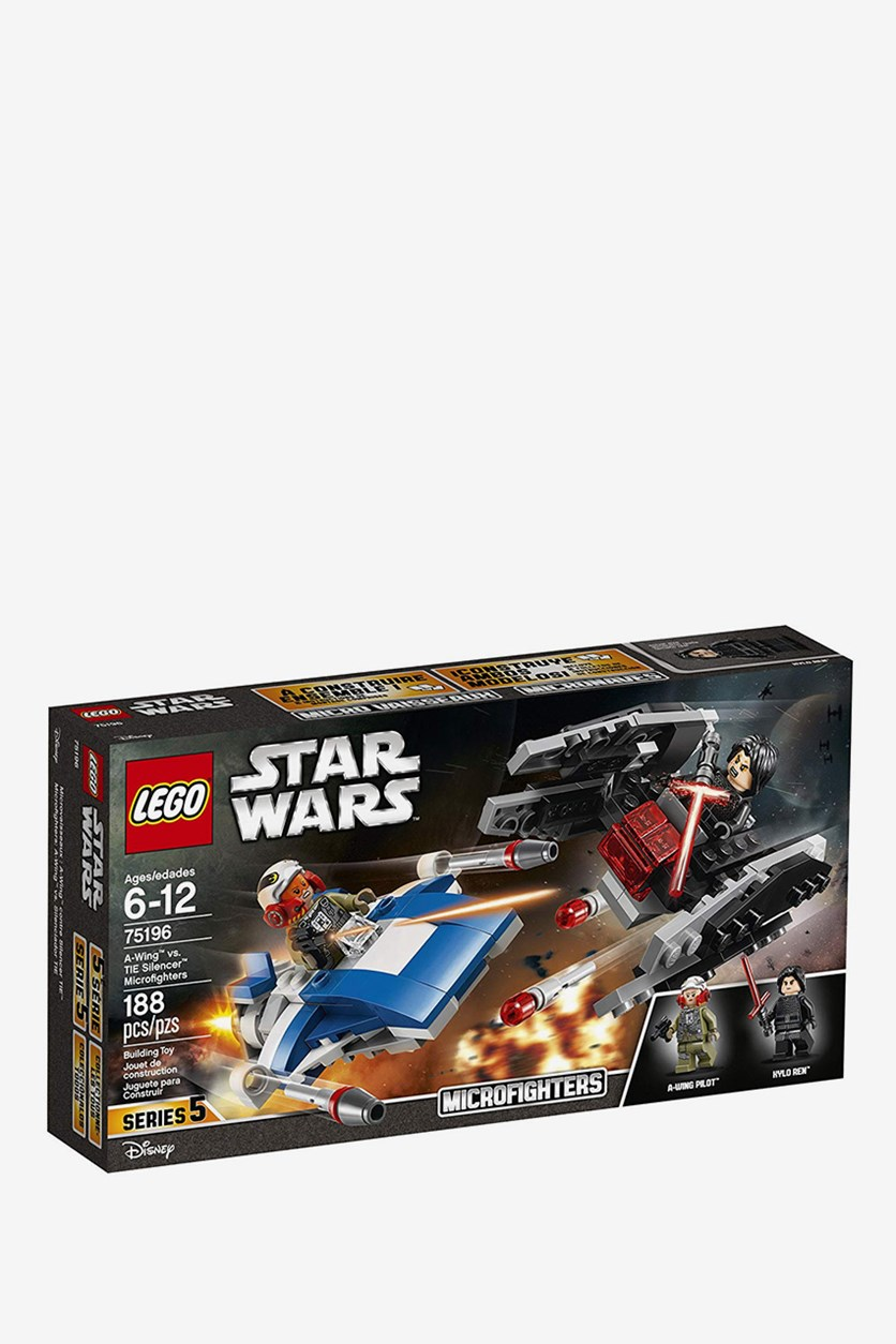 Star Wars: The Last Jedi A-Wing vs. Tie Silencer Microfighters Building Kit, Blue/Black