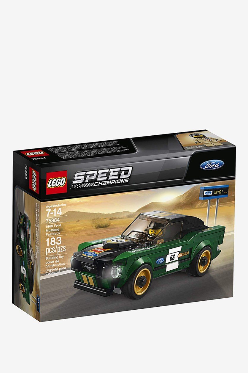 Speed Champions 1968 Ford Mustang Fastback Building Kit, Green Combo