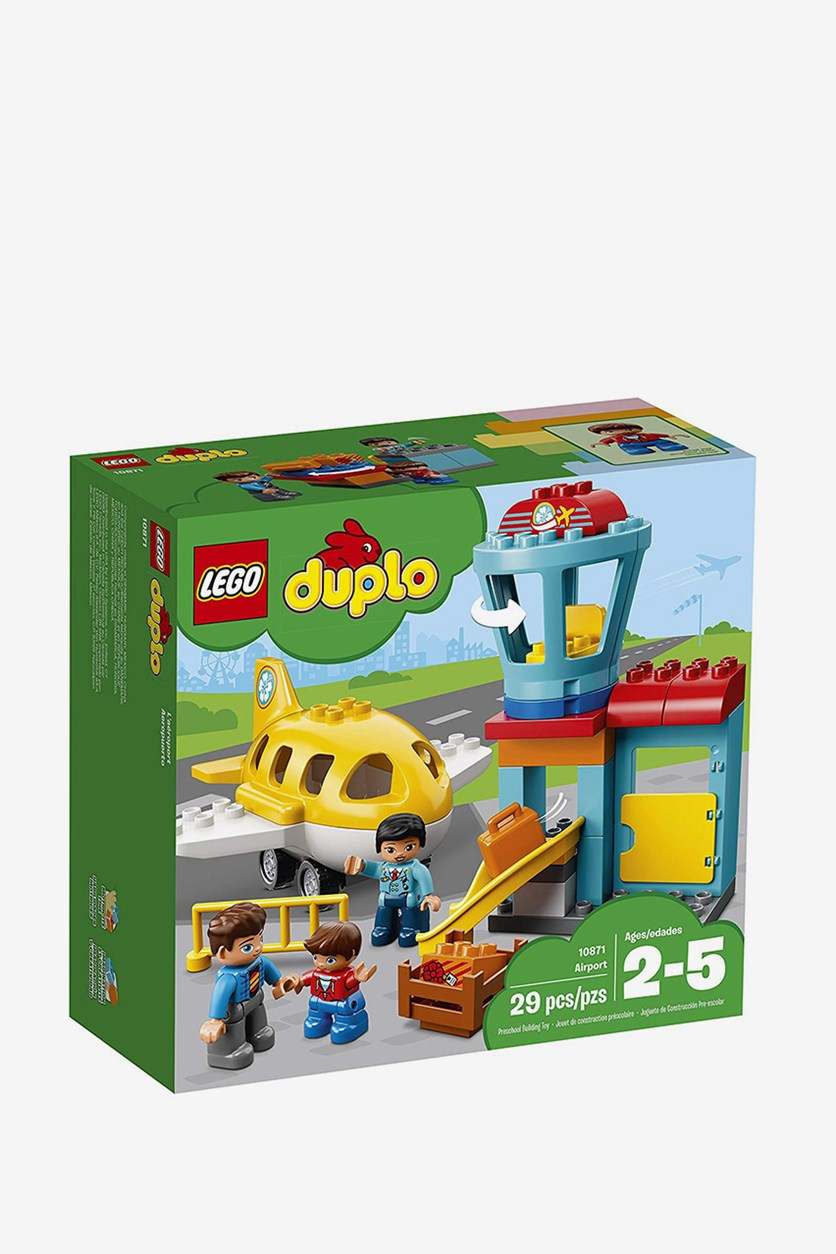 Duplo Town Airport Building Blocks, Blue/Yellow