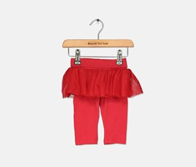 Baby Girls Tutu Leggings, Red