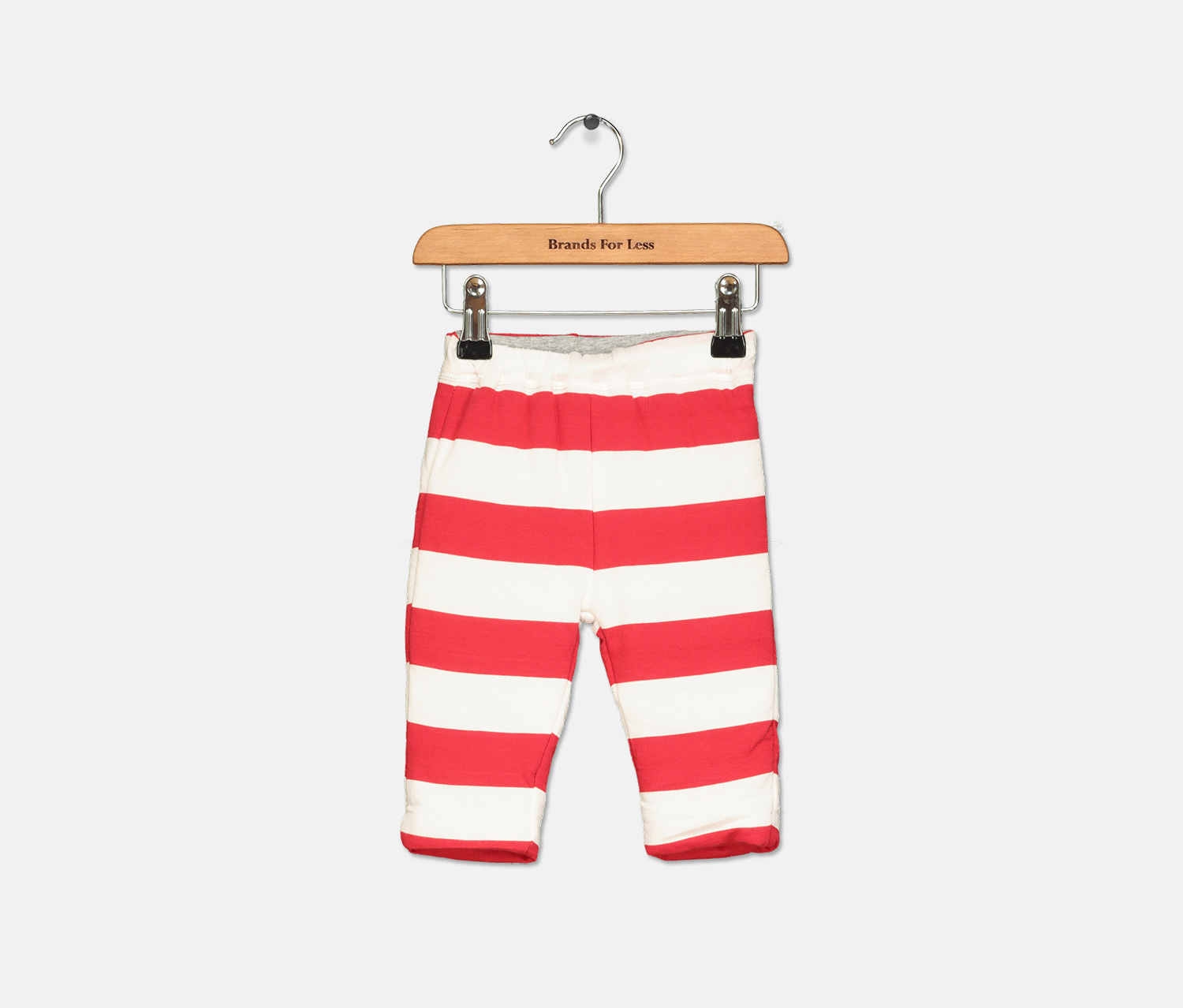 Toddler's  Reversible Striped Pants, Red/White