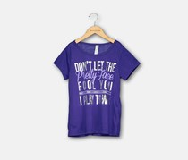 Ideology Girls' Pretty Face T-Shirt, Blazing Purple