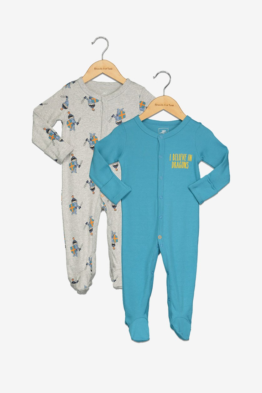 Toddlers 2-Pc. Overall, Grey/Blue