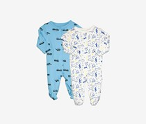 Rosie Pope Assorted Coveralls Pack of 2, Blue/White