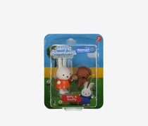 Miffy's Adventures Big and Small Miffy & Snuffy Figure Set, Orange/Brown