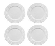 Elle Decor Amelie  Dinner Plate (Set of 4), White