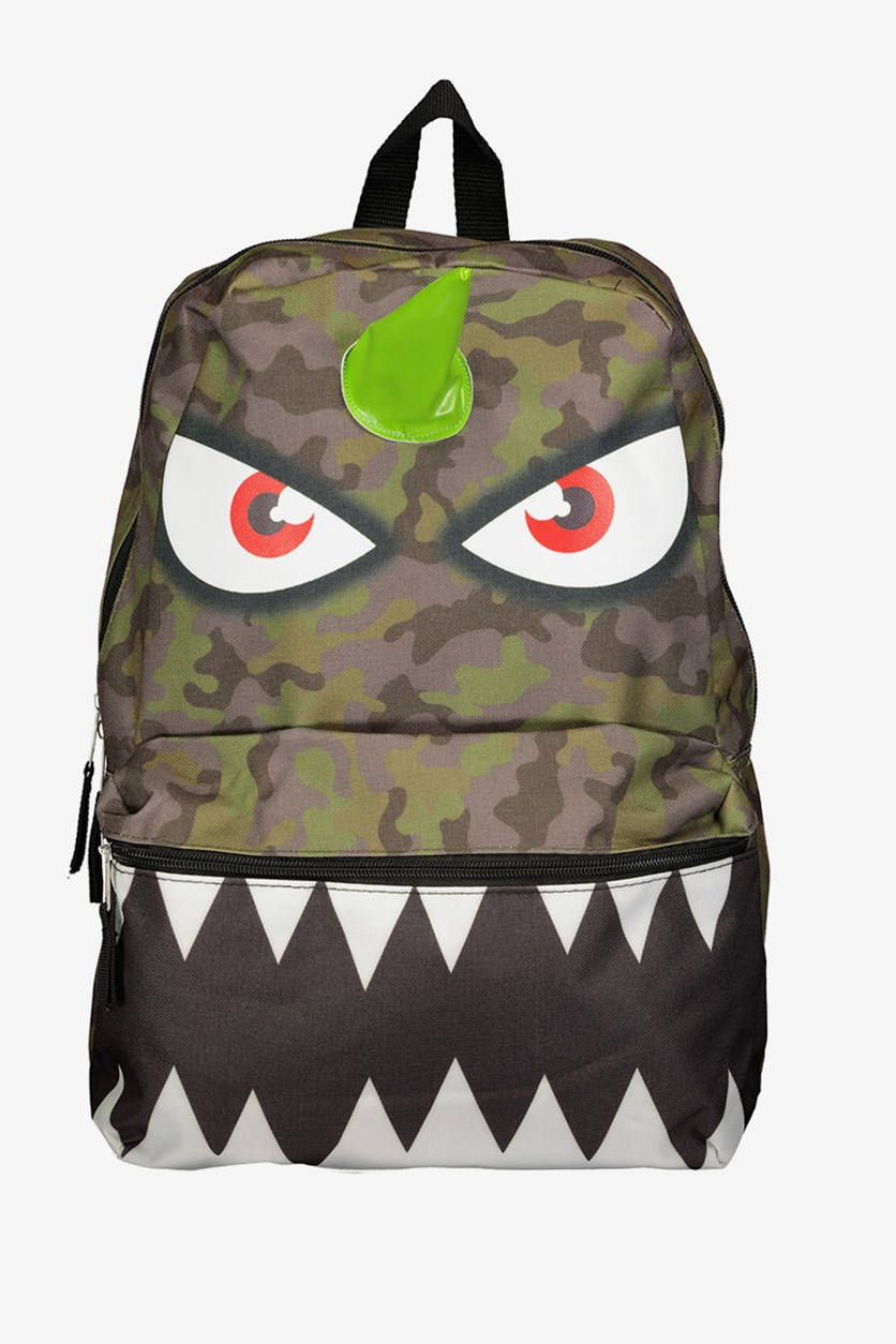 Camo Monster Backpack, Green Combo