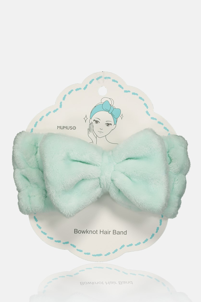 Lady's Purecolor Bowknot Hair Band, Mint