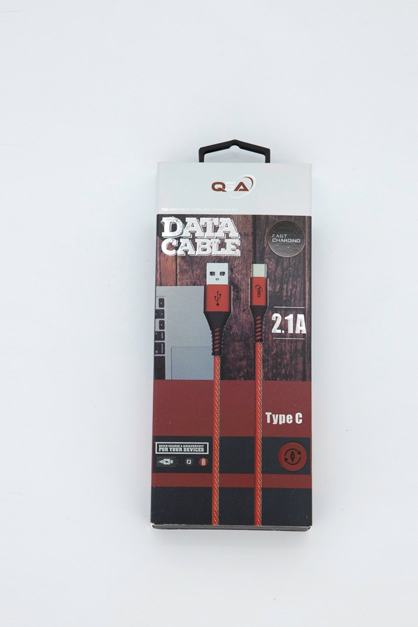 3 Foot Data Cable, Red/White