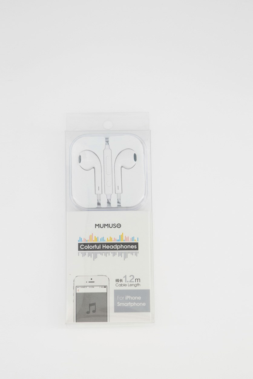 Colorful Iphone Earphones, White