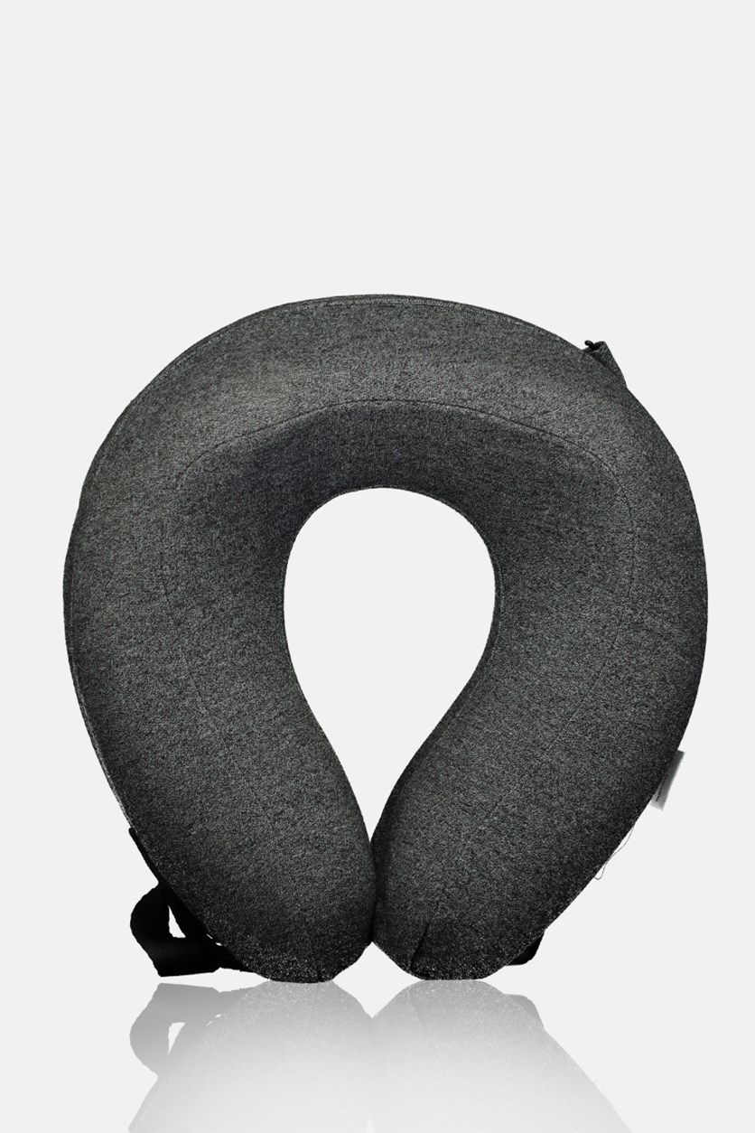 Portable U-Shaped Memory Foam Neck Pillow, Dark Gray