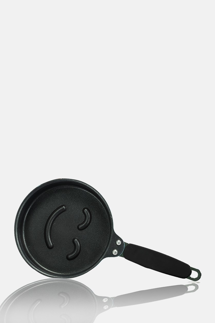Frying Pan Smiley Face, Blue/Black