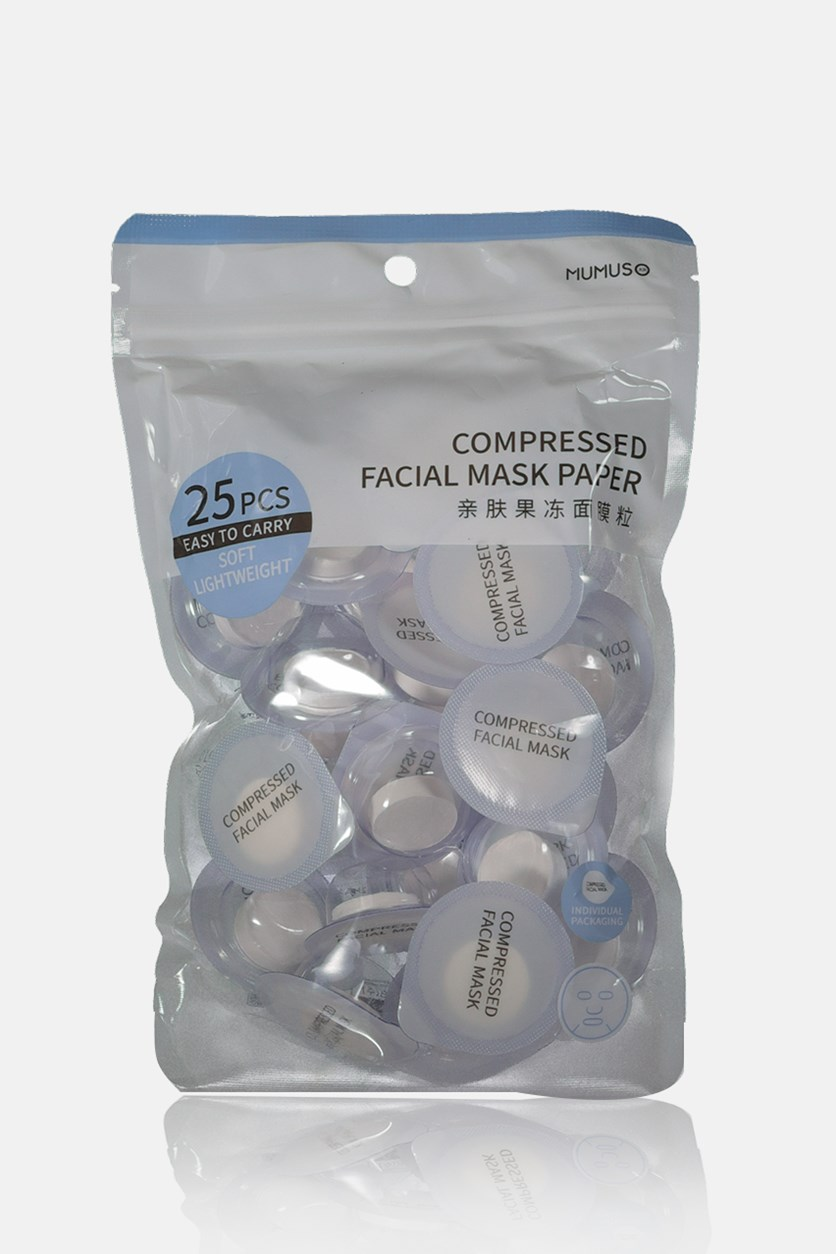 Individual Packaging 25 Pieces Compressed Facial Mask Paper, White