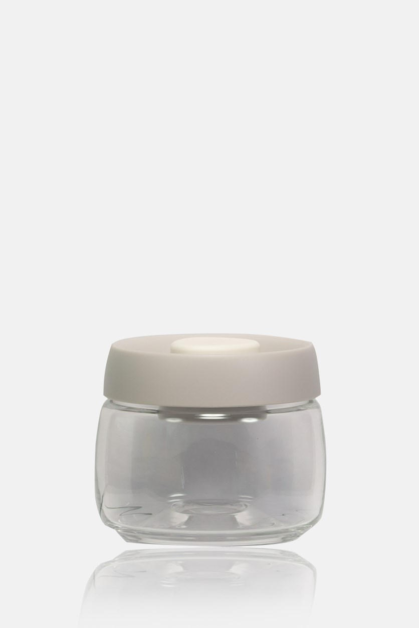 Vacuum Food Container 540ml, Transparent/Gray