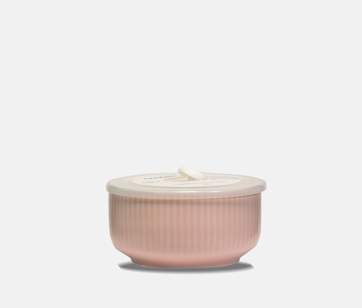 Ceramic Bowl With Lid 950ml, Pink
