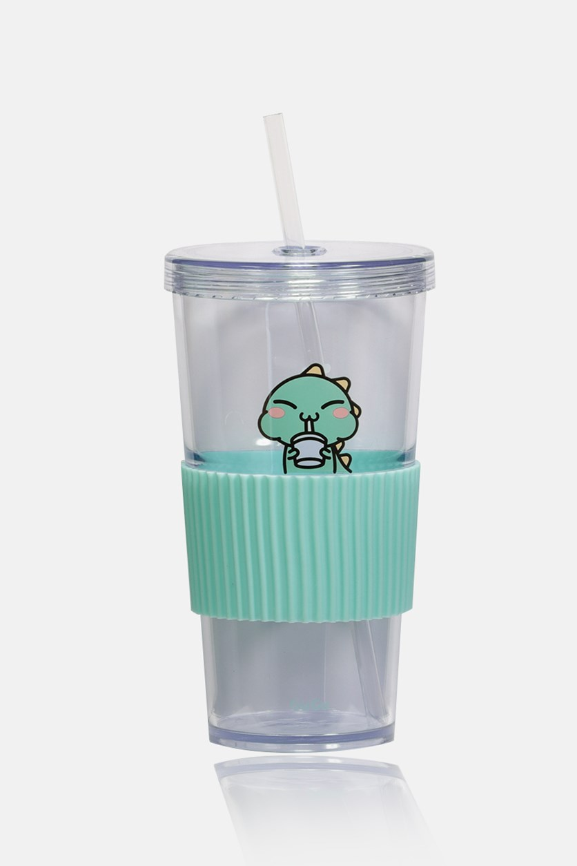 Family Tumbler With Lid 700mL, Mint/Transparent
