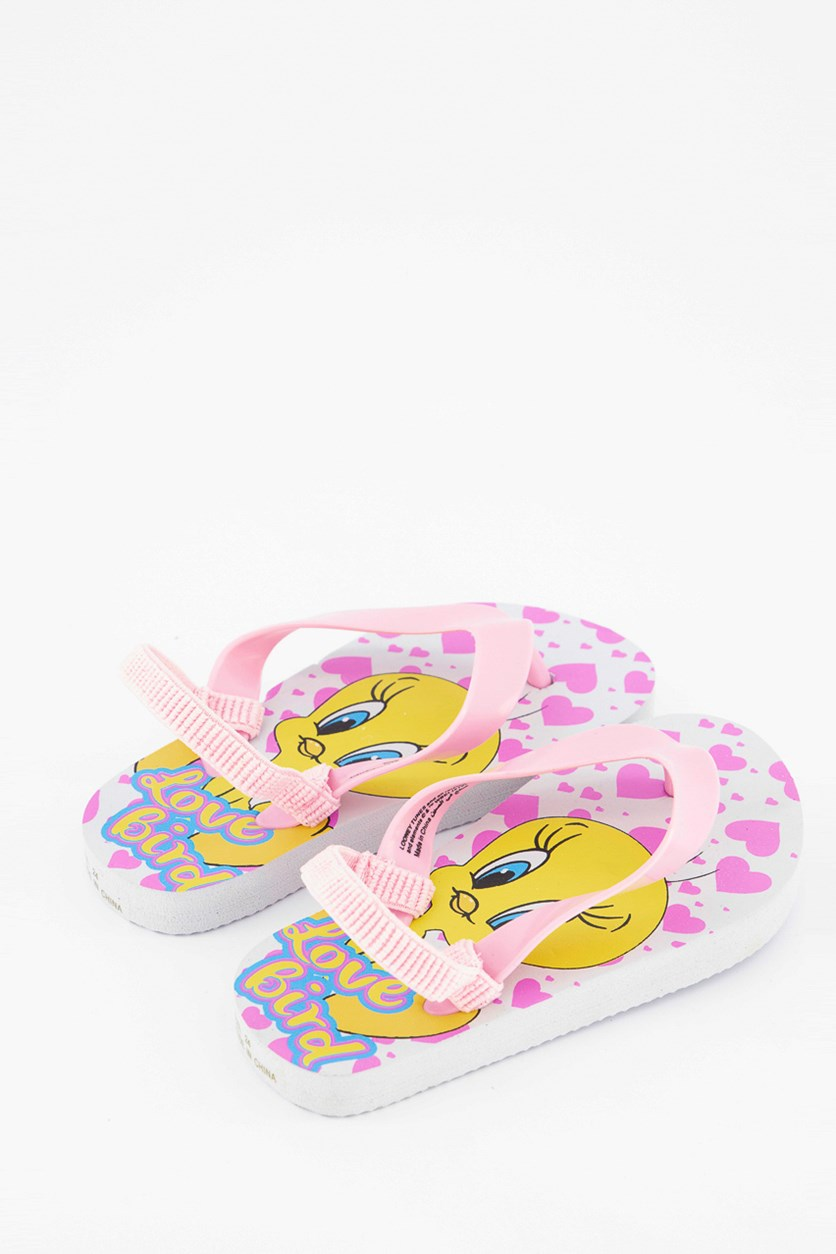 Warner Bros, Toddlers Looney Tunes Slippers, Pink