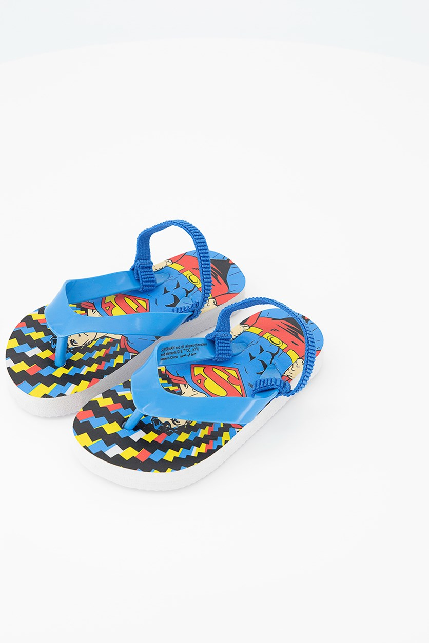 Superman DC Toddlers Superman Slippers, Blue Combo