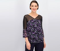 Inc International Concepts Printed Illusion Top, Tangled Ivy