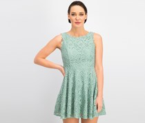 City Studios Juniors Lace Fit-and-Flare Dress, Sage