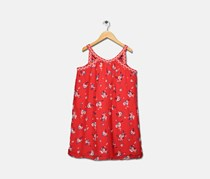 Epic Threads Floral-print Keyhole Strap Dress, Tomato
